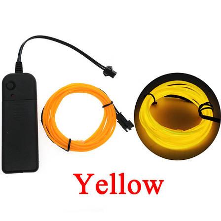 Светодиодная лента провод 5м LED неоновый свет с контроллером, фото 2