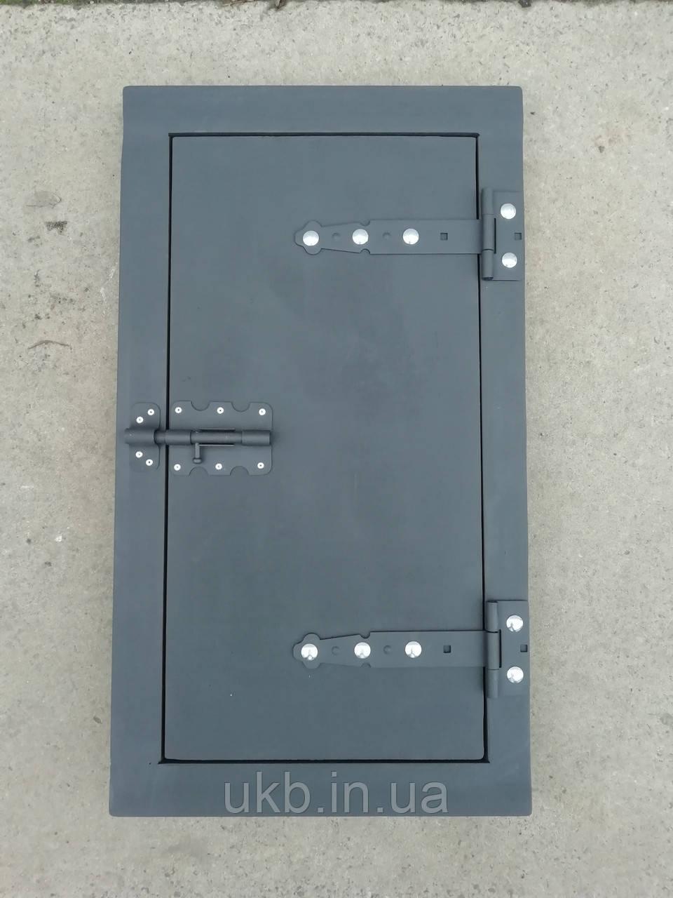 Дверца коптильни чугунная 720*400 мм