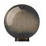 Садово-парковый светильник шар призматичный 250мм РММА дымчатый