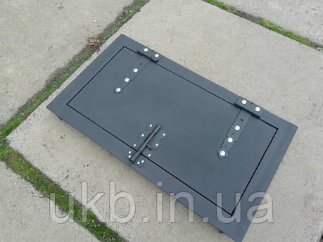 Дверка для коптильни чугунная 700*400 мм, фото 2