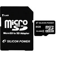 Карта памяти micro SDHC 8Gb Silicon Power (Class 4)