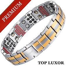 Магнитный браслет Премиум Топ Люксор (gold - silver)