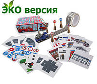 """Игровой набор Красный автобус """"Авто Фан Плюс"""" Версия Эко"""