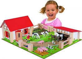 Игровой Набор Деревянная Ферма с Животными Eichhorn, фото 2