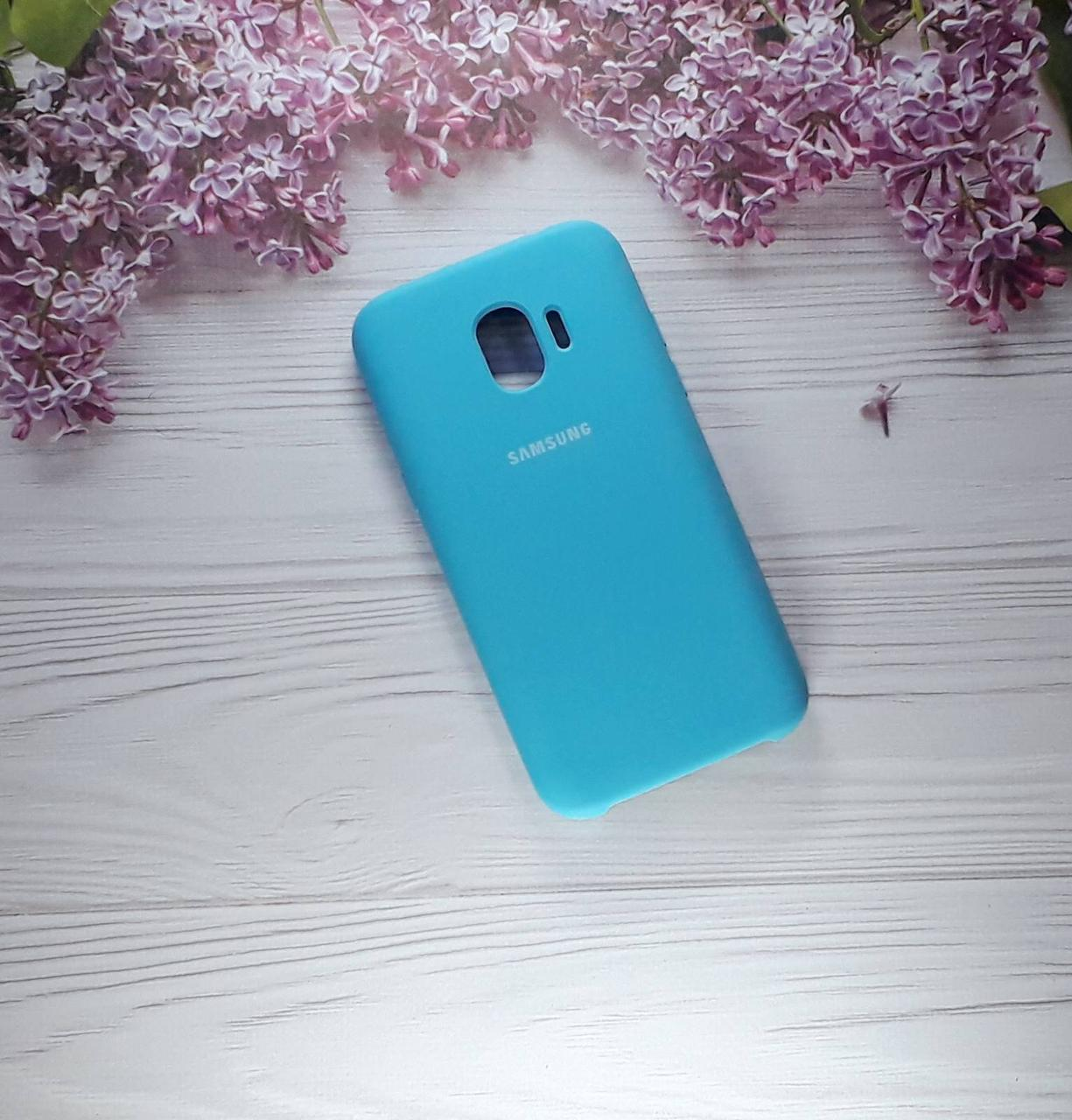 Чехол накладка Soft Touch на Samsung J2(2018), J250, Light Blue