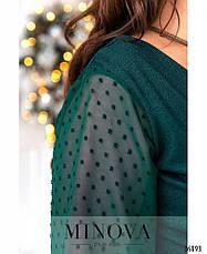Платье женское нарядное зеленое размеры: 58, фото 3