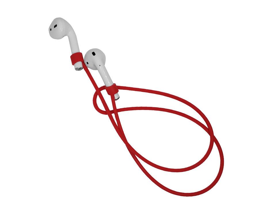 Силиконовый шнурок для airpods Красный