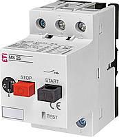 Автоматический выключатель 4А-6.3А ETI MS25-6.3 для защиты двигателей 4600090