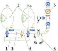 Фильтростанция гравийная с автоматической промывкой 30 кубометров ФСА-30 Роста