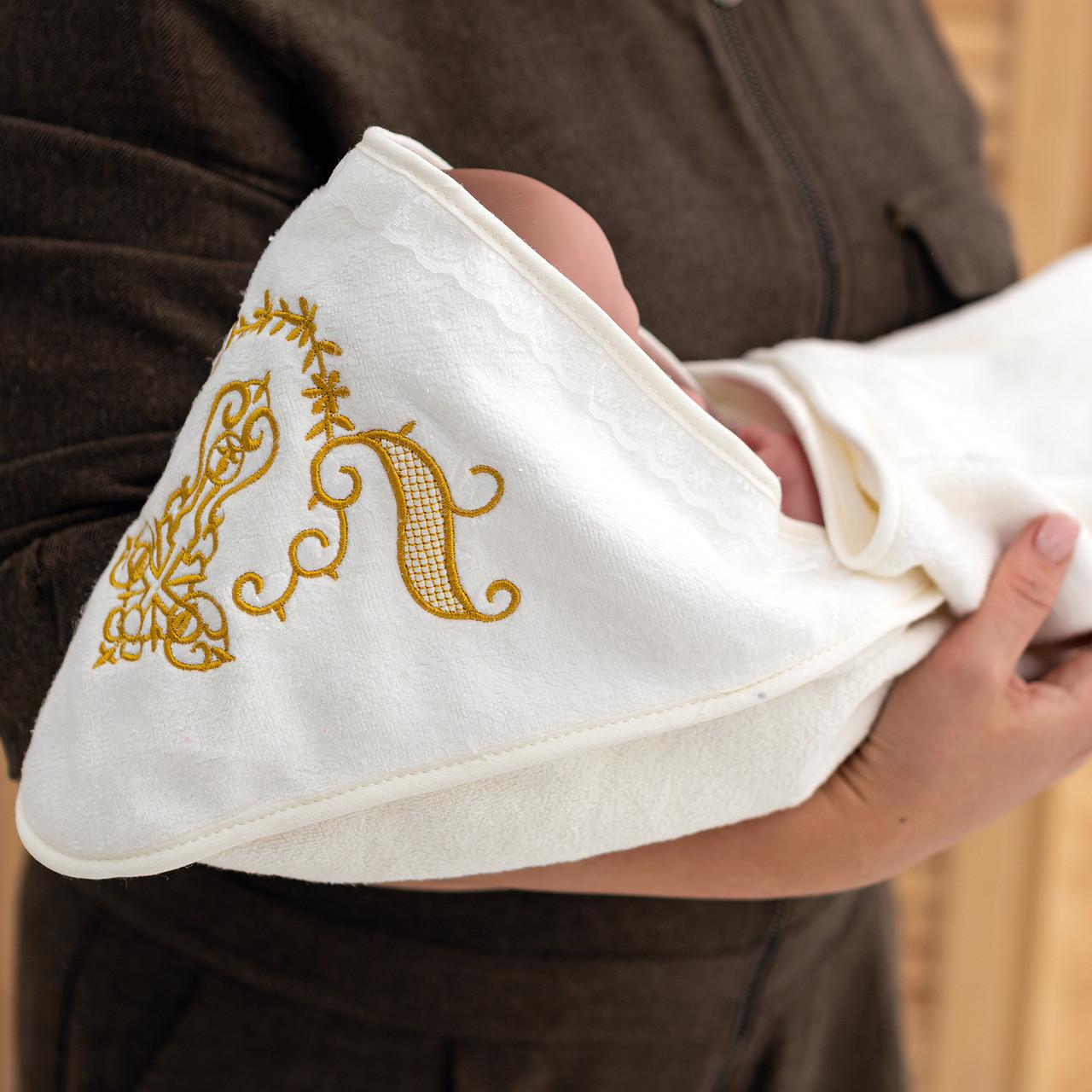 Крыжма для крещения с вышивкой