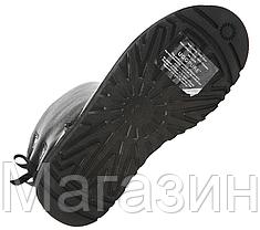 Женские угги UGG Bailey Bow Leather Black короткие угги угг австралия оригинал черные, фото 3