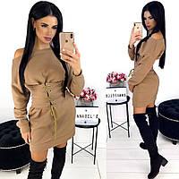 Зимнее платье женское с корсетам АА/-1280 - Бежевый, фото 1