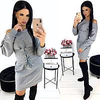 Зимнее платье женское с корсетам АА/-1280 - Серый, фото 1