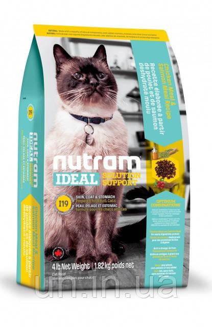 Nutram Ideal Solution сухий корм для кішок з проблемами шкіри, вовни і травлення 5КГ