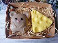 """Сувенирный/подарочный набор мыла для рук """"Мышь и сыр: 2020"""""""