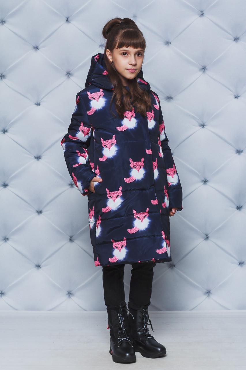 Пальто зимние для девочки Лисички