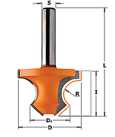 Фреза кромочная полустержневая 36х22х25х8 мм хв.8мм (арт.954.080.11)