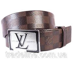 Мужской ремень в стиле Louis Vuitton 301110 Коричневый, фото 2