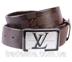 Мужской ремень в стиле Louis Vuitton 301110 Коричневый, фото 3