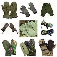 MIX армейских рукавиц . 1-й сорт.