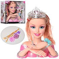 Кукла-манекен для причесок 83267, 28см, заколочки, резиночки, накладные ногти, украшения, 2 вида