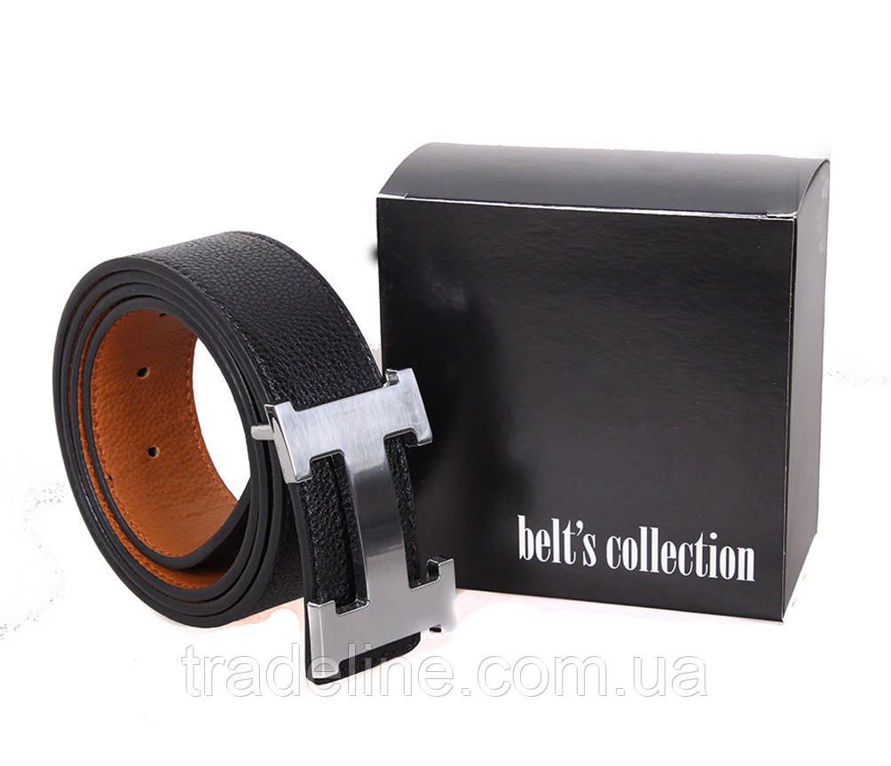 Мужской ремень H-49098 115-125 см Черный