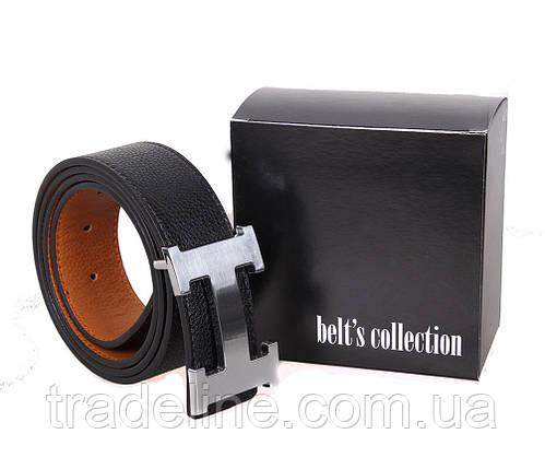 Мужской ремень H-49098 115-125 см Черный, фото 2