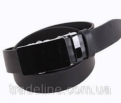Мужской кожаный ремень Dovhani A111-1А 115-125 см Черный, фото 2