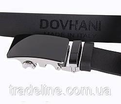 Мужской кожаный ремень Dovhani A111-1А 115-125 см Черный, фото 3