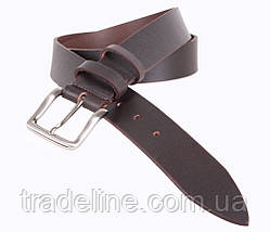 Мужской кожаный ремень Dovhani LD666-2S 115-125 см Коричневый, фото 2