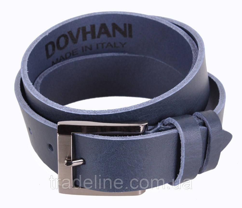 Мужской кожаный ремень Dovhani LD666-77 115-125 см Синий
