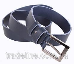 Мужской кожаный ремень Dovhani LD666-77 115-125 см Синий, фото 3