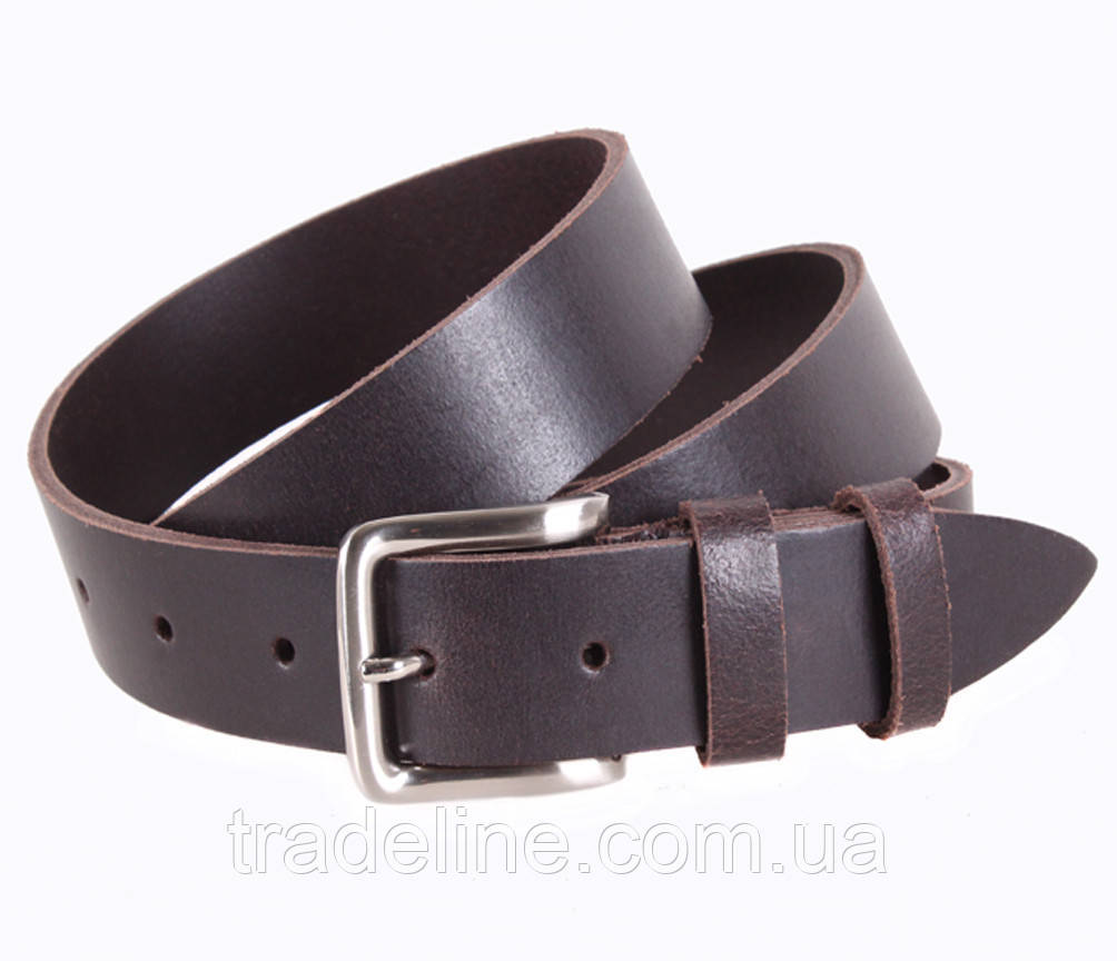 Мужской кожаный ремень Dovhani SP999-1А 115-125 см Коричневый