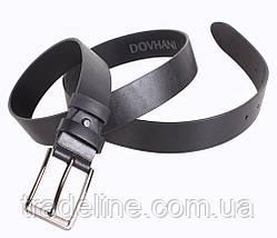 Мужской кожаный ремень Dovhani UK888-99 115-125 см Черный, фото 3