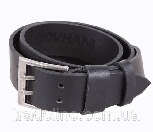 Мужской кожаный ремень Dovhani LD666-205 115-125 см Черный, фото 2