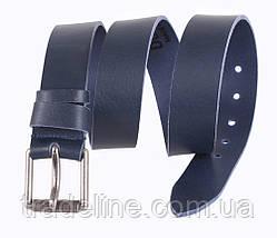 Мужской кожаный ремень Dovhani LD666-244 115-125 см Синий, фото 2