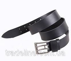 Мужской кожаный ремень Dovhani SP999-125 115-125 см Черный, фото 2