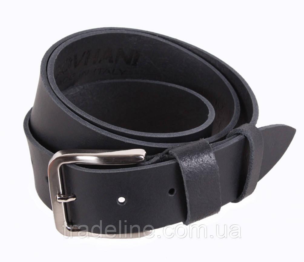Мужской кожаный ремень Dovhani SP999-158 115-125 см Черный