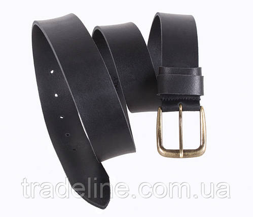 Мужской кожаный ремень Dovhani SP999-178 115-125 см Черный, фото 2