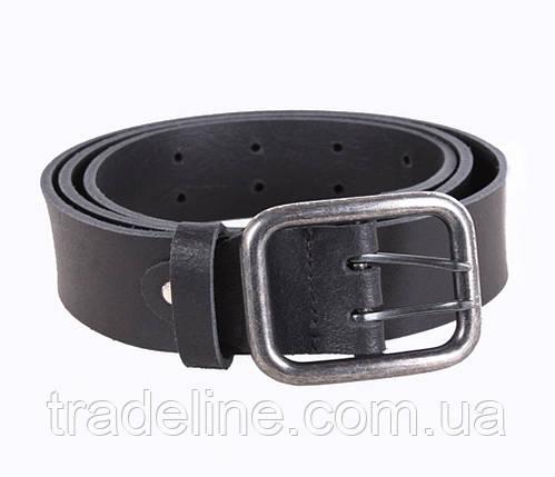 Мужской кожаный ремень Dovhani SP999-196 115-125 см Черный, фото 2