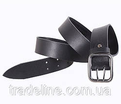 Мужской кожаный ремень Dovhani SP999-196 115-125 см Черный, фото 3