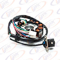 Статор генератора на скутер  GY6-125/150cc  (10 1 катушек 4 2 конт)
