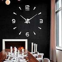 Большие настенные часы Арабские полосы Silver, фото 1