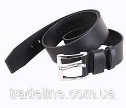 Мужской кожаный ремень Dovhani SP999-211 115-125 см Черный, фото 3