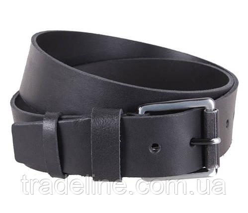 Мужской кожаный ремень Dovhani SP999-266 115-125 см Черный, фото 2
