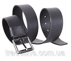 Мужской кожаный ремень Dovhani SP999-266 115-125 см Черный, фото 3