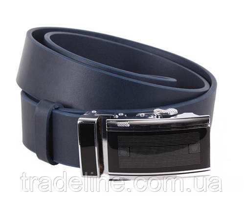 Мужской кожаный ремень Dovhani ALD666-266 115-125 см Синий, фото 2