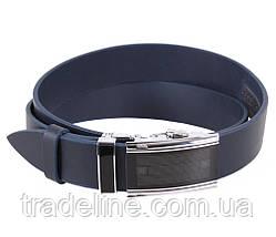 Мужской кожаный ремень Dovhani ALD666-266 115-125 см Синий, фото 3