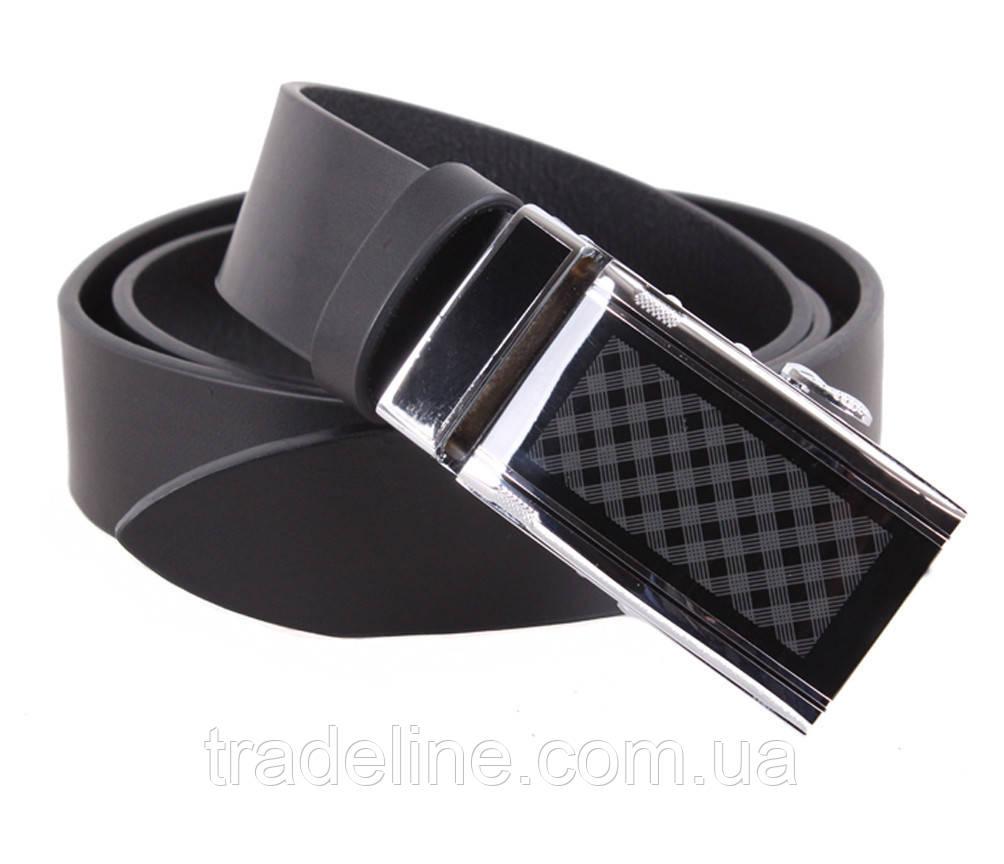 Мужской кожаный ремень Dovhani ALD666-299 115-125 см Черный