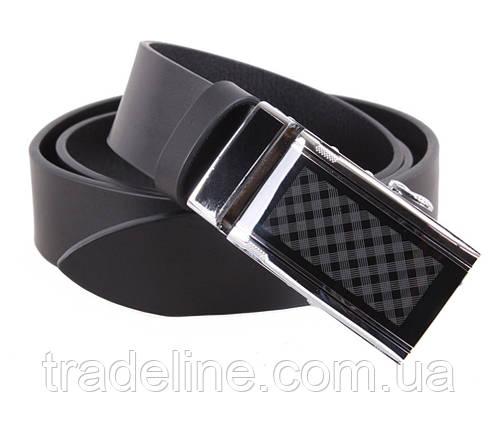 Мужской кожаный ремень Dovhani ALD666-299 115-125 см Черный, фото 2